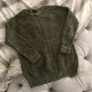 Topshop melange green sweater size 6